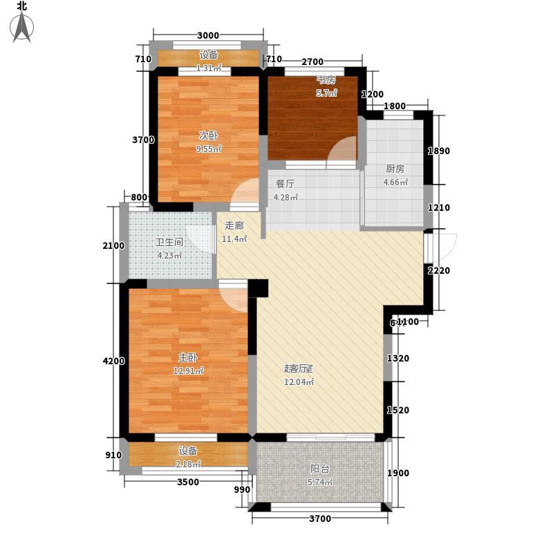 圣联梦溪小镇98.00㎡2#03/04户型3室2厅