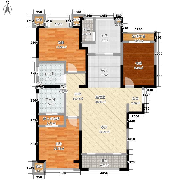 富力华庭134.00㎡富力华庭户型图C5号楼(8/8张)户型3室2厅2卫