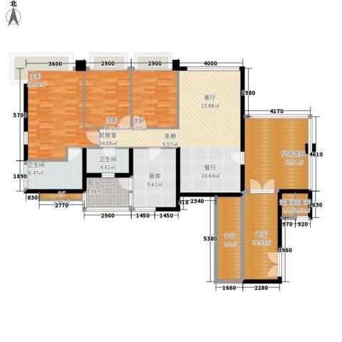 凯旋门3室0厅2卫1厨139.00㎡户型图