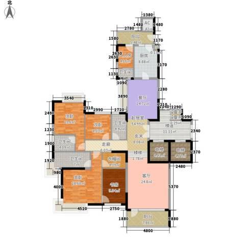 粤海丽江花园4室0厅4卫1厨204.00㎡户型图