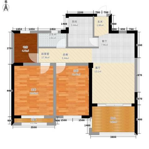 圣联梦溪小镇3室0厅1卫1厨97.00㎡户型图