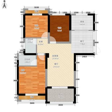 圣联梦溪小镇3室0厅2卫1厨104.00㎡户型图