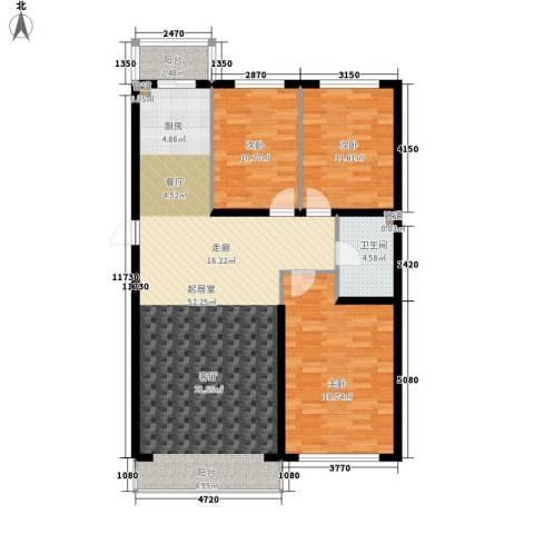 建龙第一城3室0厅1卫0厨139.00㎡户型图