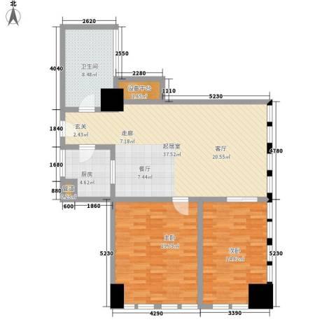 中宏汇景国际2室0厅1卫1厨100.00㎡户型图