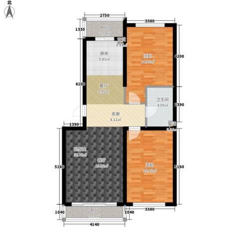 建龙第一城2室0厅1卫0厨109.00㎡户型图