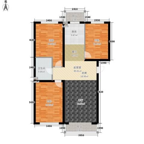 建龙第一城3室0厅1卫0厨132.00㎡户型图