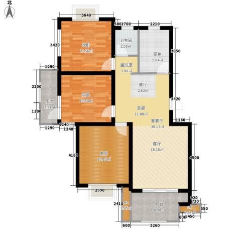 仙林诚品城3室1厅1卫1厨100.00㎡户型图