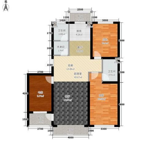 建龙第一城3室0厅2卫0厨132.00㎡户型图