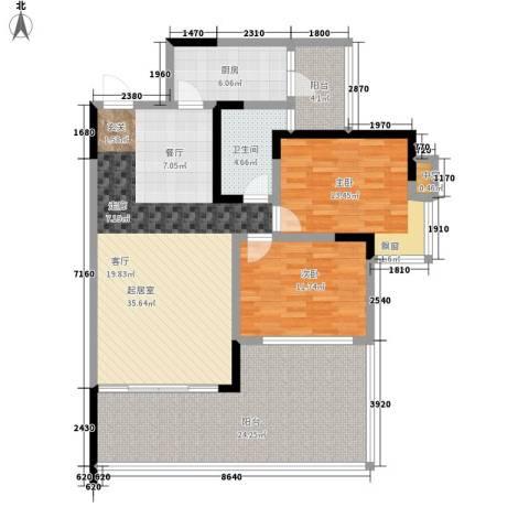 西江月2室0厅1卫1厨100.35㎡户型图