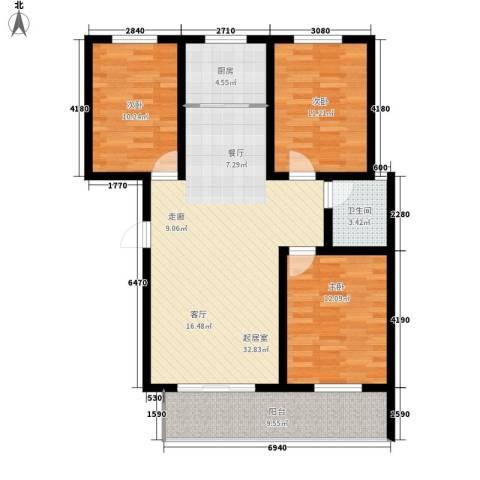 天冠城3室0厅1卫1厨119.00㎡户型图