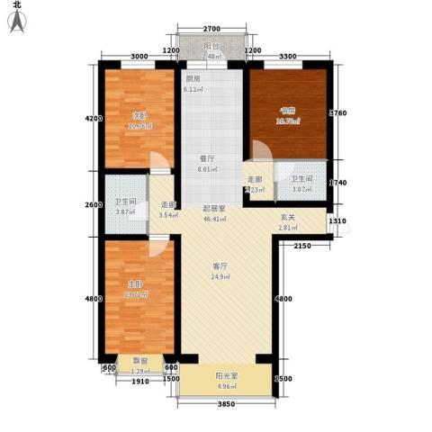 阳光美地3室0厅2卫0厨116.00㎡户型图