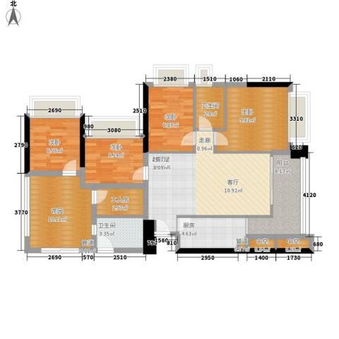 东海嘉园4室0厅2卫1厨94.00㎡户型图