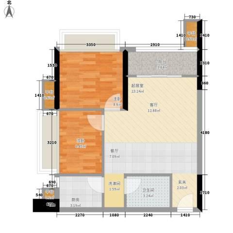 东海嘉园2室0厅1卫1厨57.00㎡户型图