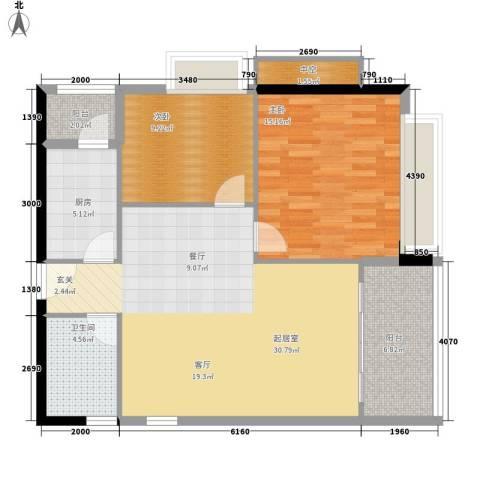 东海嘉园2室0厅1卫1厨84.00㎡户型图