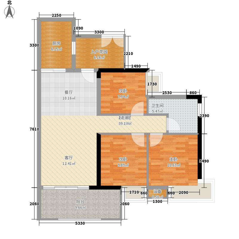 翠城花园100.04㎡21栋4层01单元面积10004m户型