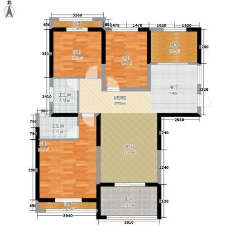 圣联梦溪小镇3室0厅2卫1厨105.00㎡户型图
