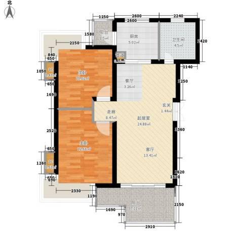 德盈大厦2室0厅1卫1厨96.00㎡户型图