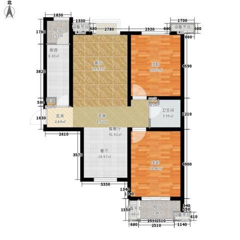 富源城2室1厅1卫1厨106.00㎡户型图