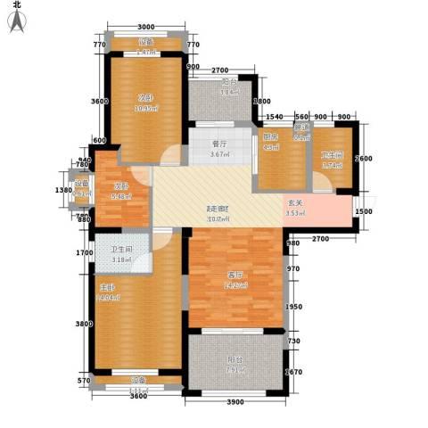 圣联梦溪小镇3室0厅2卫1厨111.00㎡户型图