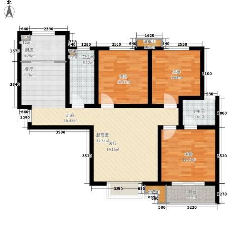 纯棉时代3室0厅2卫1厨139.00㎡户型图