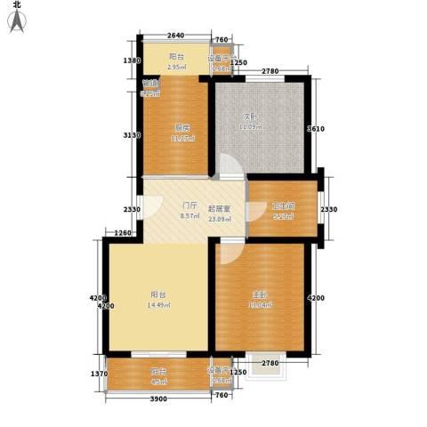 景福花园(横沥)2室0厅1卫1厨100.00㎡户型图