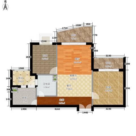 东山紫园1厅1卫1厨92.00㎡户型图