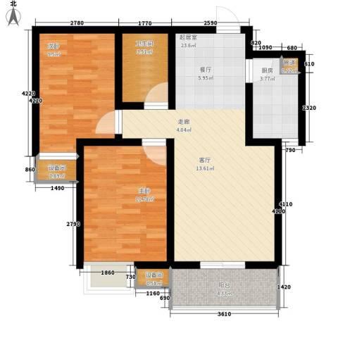 天冠城2室0厅1卫1厨84.00㎡户型图