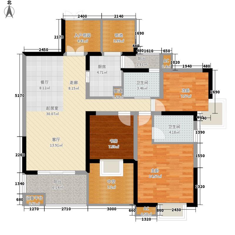 红树湾113.05㎡一期一号楼奇数层C1户型