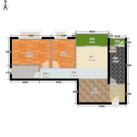 宏景台2室1厅1卫1厨92.00㎡户型图