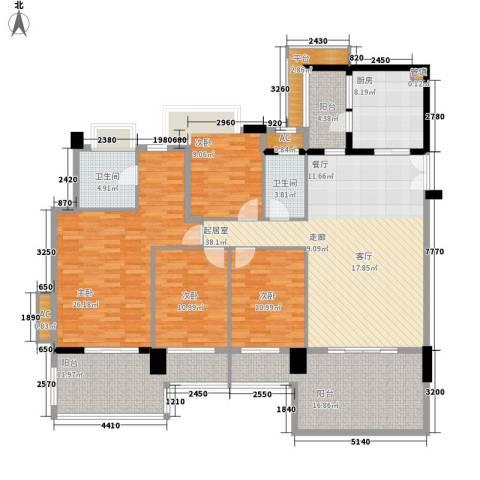 凯旋门4室0厅2卫1厨172.00㎡户型图