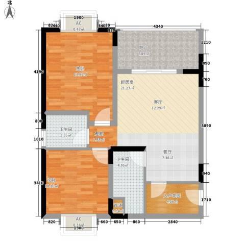 山海和湾2室0厅2卫0厨78.00㎡户型图