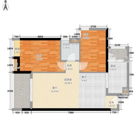 保利中环广场2室0厅1卫1厨94.00㎡户型图