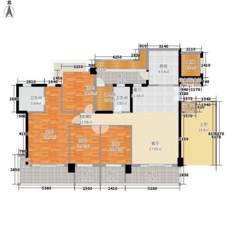 凯旋门4室0厅2卫1厨171.00㎡户型图