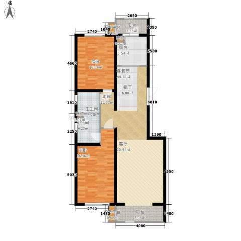 闻都雅苑2室1厅2卫1厨106.00㎡户型图