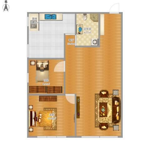 越秀・星汇蓝海2室1厅1卫1厨97.00㎡户型图