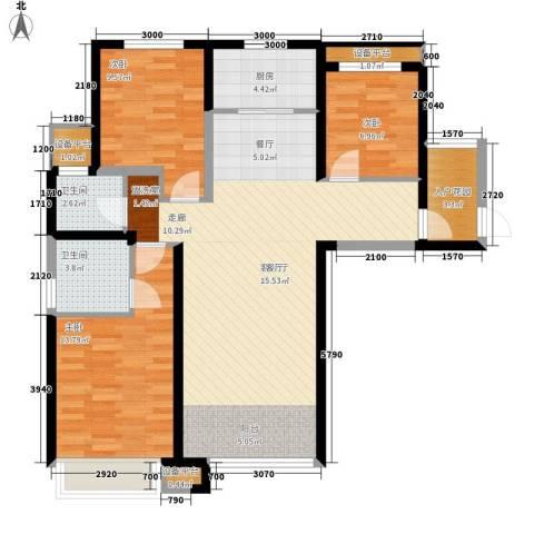 奥林匹克花园3室1厅2卫1厨97.26㎡户型图