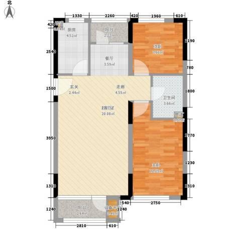 66号小区2室0厅1卫1厨64.26㎡户型图