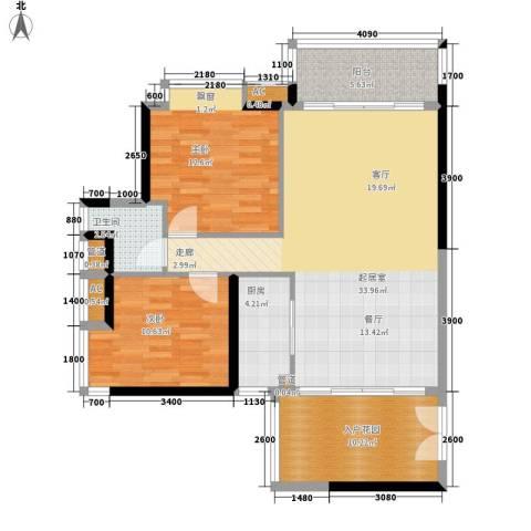 保利中环广场2室0厅1卫1厨99.00㎡户型图