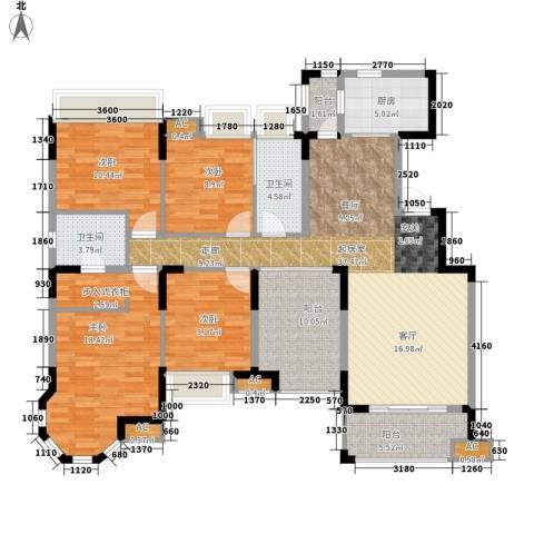 中海熙岸4室0厅2卫1厨167.00㎡户型图