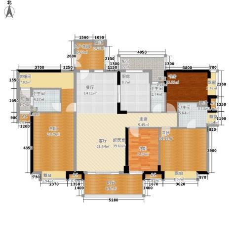 保利中环广场4室0厅3卫1厨195.00㎡户型图