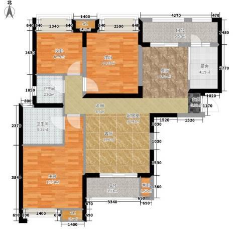 中海熙岸4室0厅2卫1厨118.00㎡户型图