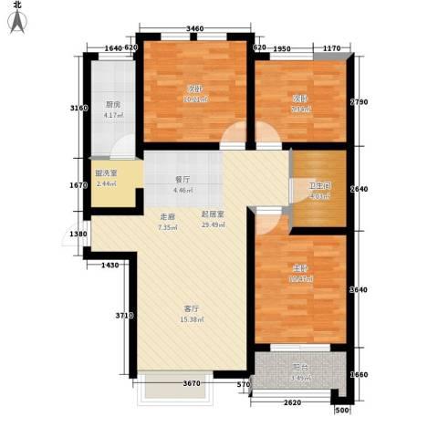 新世纪花园3室0厅1卫1厨100.00㎡户型图