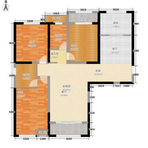 燕都紫阁3室0厅2卫1厨161.00㎡户型图