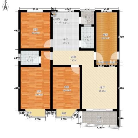 龙凤花园3室0厅2卫0厨168.00㎡户型图