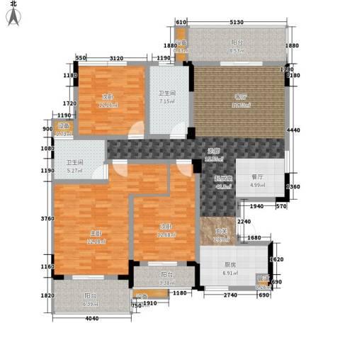 枫雅名苑3室0厅2卫0厨145.00㎡户型图