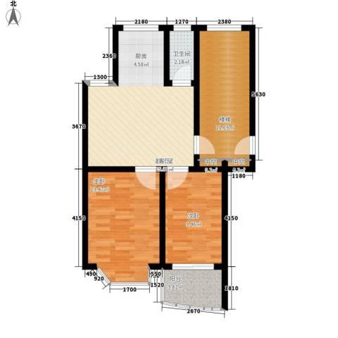 龙凤花园2室0厅1卫0厨88.00㎡户型图