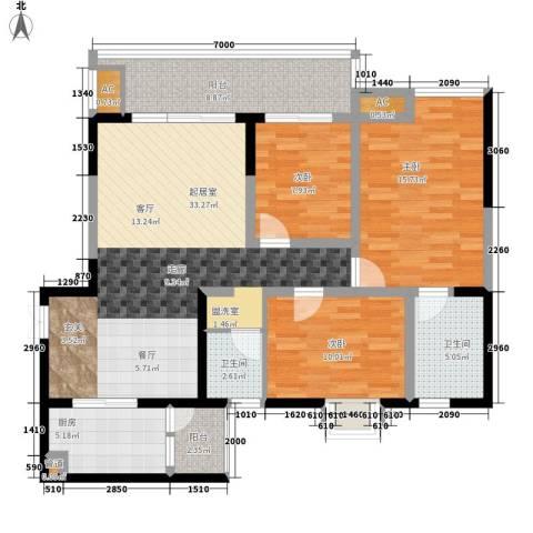 西江月3室0厅2卫1厨120.00㎡户型图