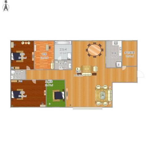 雍景台4室1厅2卫1厨406.00㎡户型图