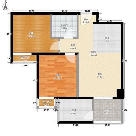 宏府嘉会公寓2室0厅1卫1厨73.00㎡户型图