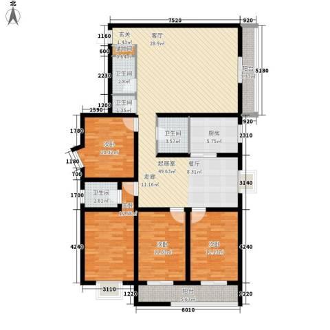 绿港花园4室0厅4卫1厨228.00㎡户型图